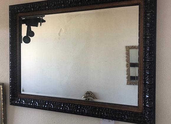 Large Dark Bronze colour bevelled edge mirror