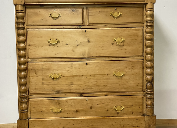 Antique Pine Large Chest of Drawers