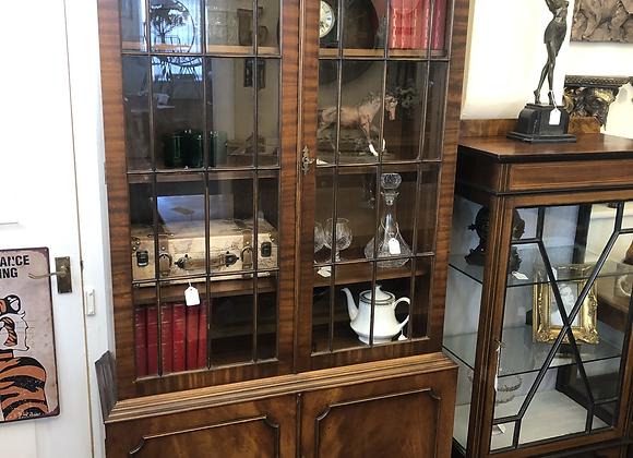 Vintage Book / Display Cabinet with key