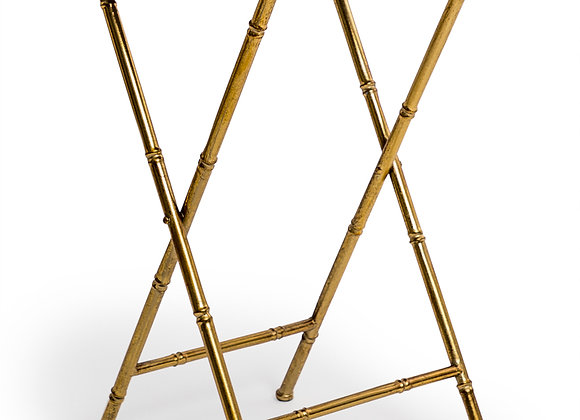 Gold antique style metal bamboo side table