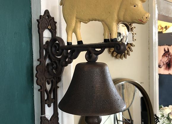 Cast Iron figure of Pig Garden Bell