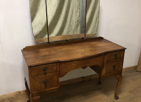 Vintage Dressing Table with Triple Mirror