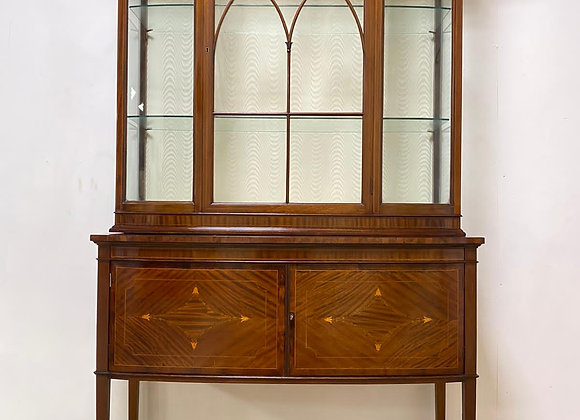 Antique Maple & Co Display Inlaid Cabinet