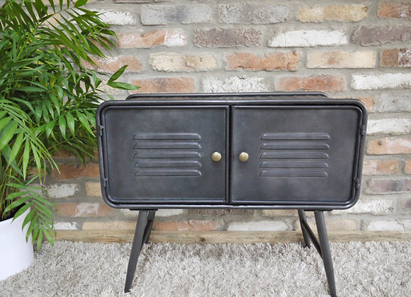 Industrial Style Rustic Metal Side table Cabinet