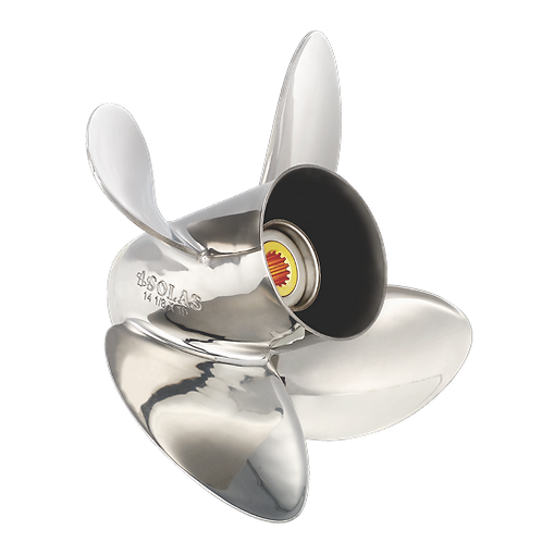 "SOLAS 1553-140-21 (MERC) 14"" x 21"" 4-Blade Stainless Steel Propeller"