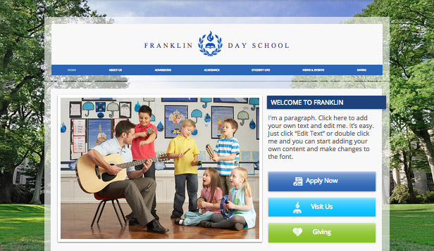 Community & Education website templates – Country Day School