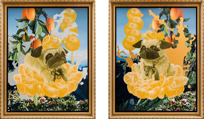 金、銀五橘公像/The Portrait of Gold, Sliver Five Oranges God