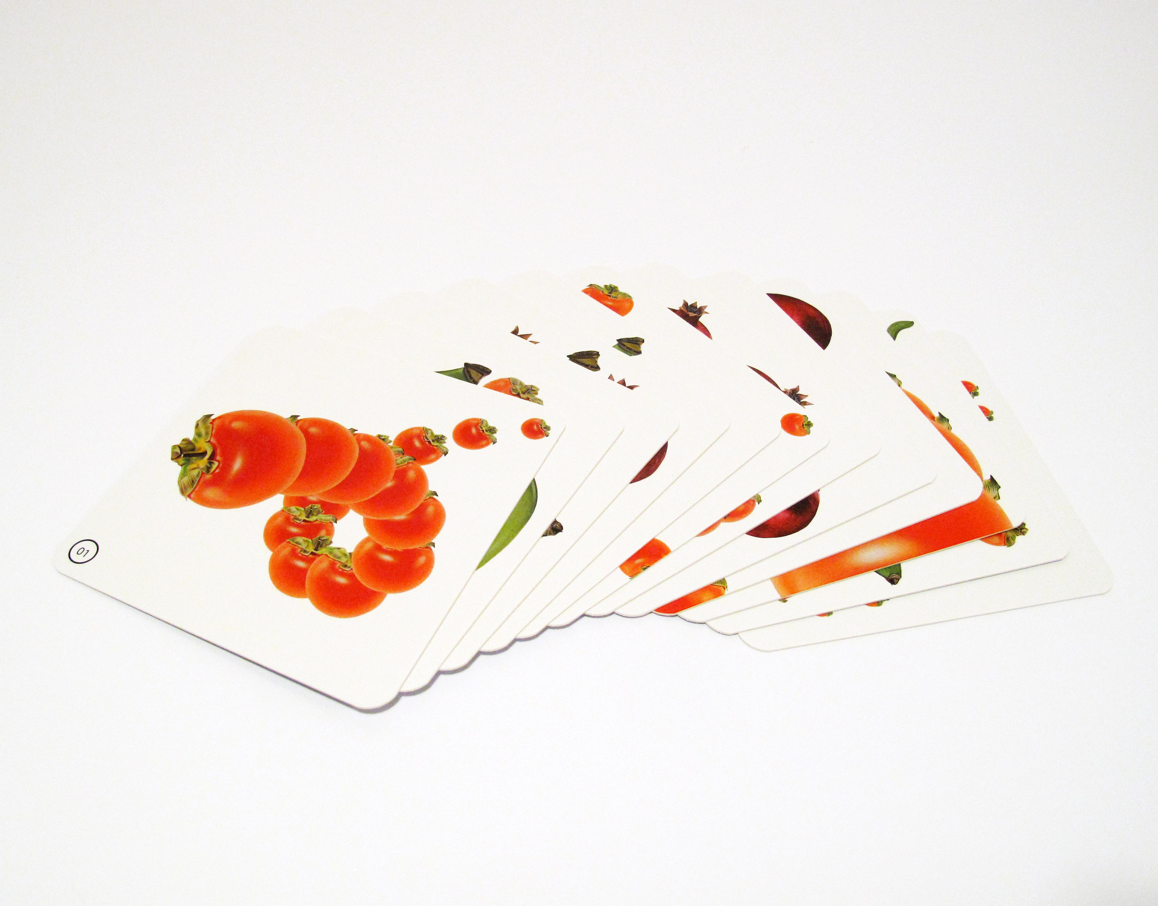 《愉悅的柿、芭 & 石榴 水果圖卡》