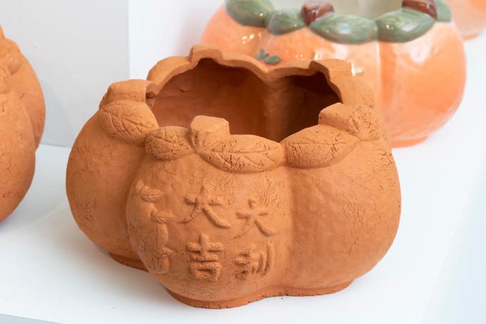 大吉大利五橘盆器(林口紅土版)/Five Oranges Fortune Pottery Planter (Lateritic Soil Edition)