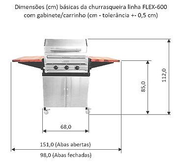 FLEX 600 com gabinete_dimensoes