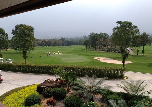 The course has an out and back layout with many of the golf holes playing past a series of lakes and strategically placed creeks. Long, straight driving is required to negotiate the larger fairway bunker complexes. Left or right shots are punished by large trees at Siam Country Club flanking every fairway.