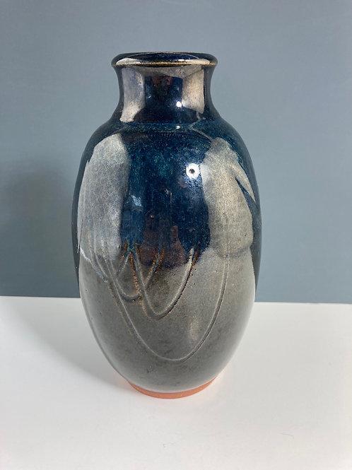 Blue vase by Ruth Potter