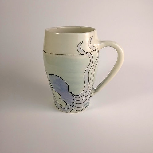 Octopus mug 18 oz by Bronwyn