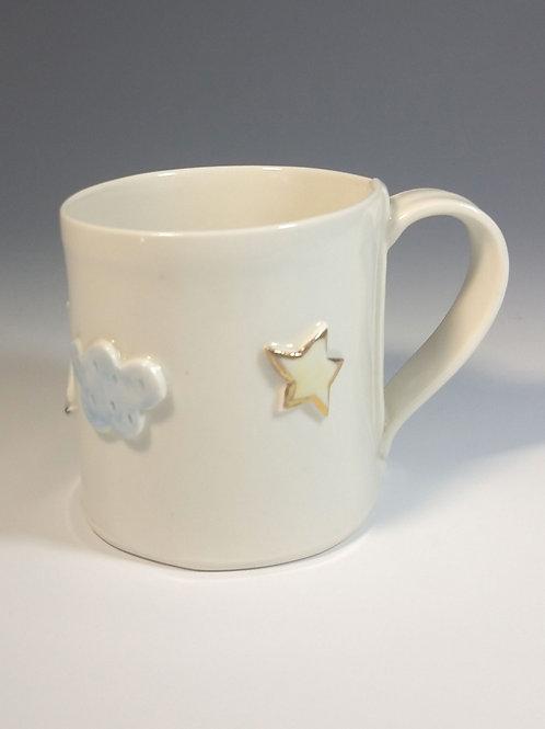 Hand and cloud mug
