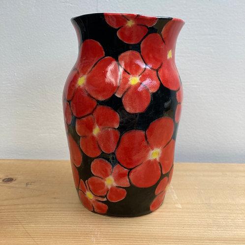Red Flowers Vase
