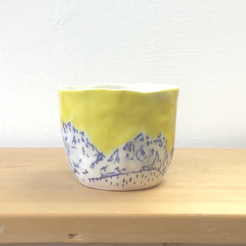 Tiny Yellow Tea Cup