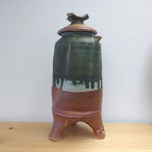 Large three footed jar