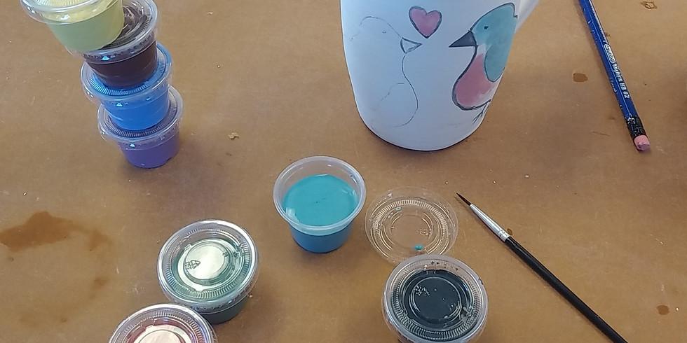 Blank mug and underglaze paint kit batch 3