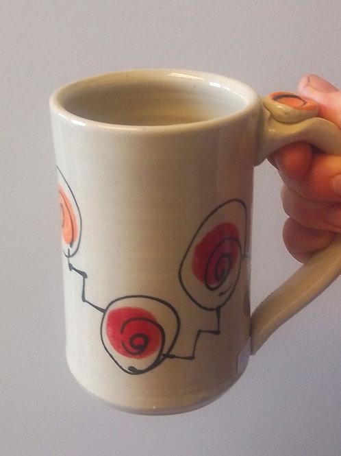 Swirl mug by Bari Precious