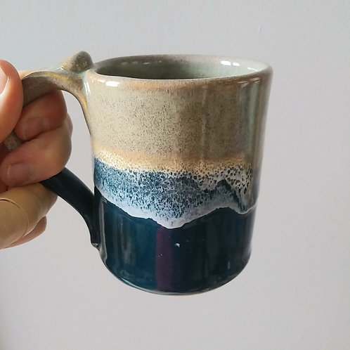 Sand and wave Mug by Bari Precious