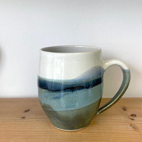 4.5 inch landscape mug