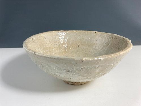 Heavily textured oatmeal bowl