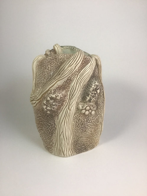 Textured vase by Karissa 7""