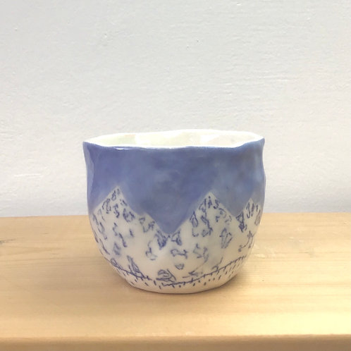 Tiny Blue Mountain Tea Cup