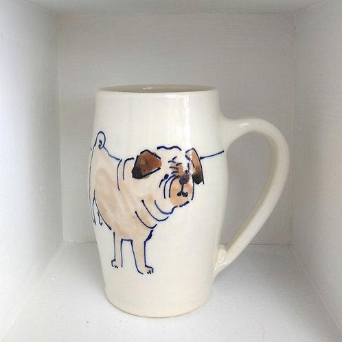 Large Pug Mug