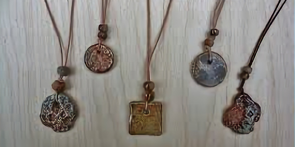 Textural clay Jewelry