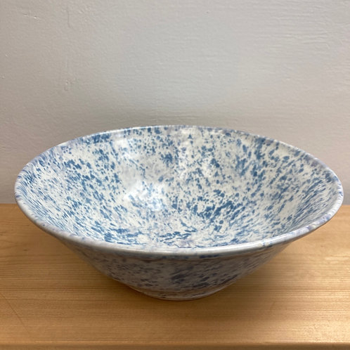 White with Blue speckles Bowl