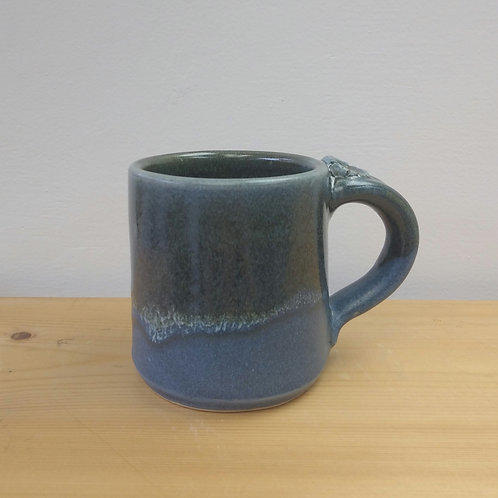 Dark blue stoneware mug 3.5 inch tall