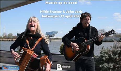 Affiche muziek op de boot 17 april 2021.