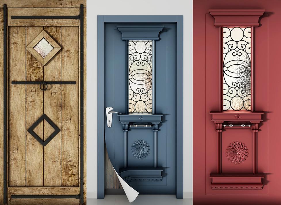מדבקות מעוצבות לדלתות כניסה