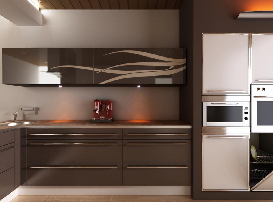 מטבח חם בעיצוב תעשייתי