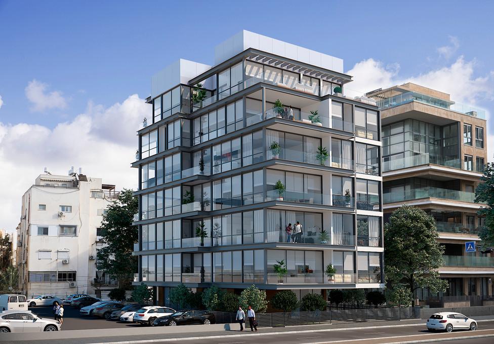 בניין לאחר תמא בירקון תל אביב