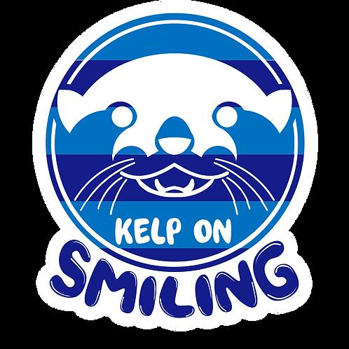 KELP ON SMILING OTTER STICKER