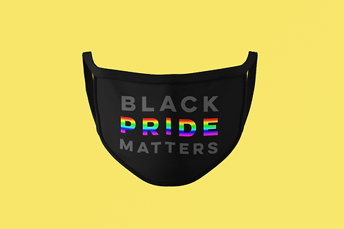 BLACK PRIDE MATTERS MASK