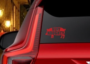 VERY NAUGHTY PIGGY DECAL
