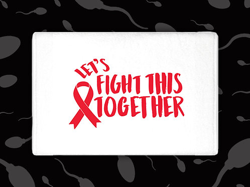 LET'S FIGHT THIS TOGETHER AWARENESS RIBBON CUM TOWEL