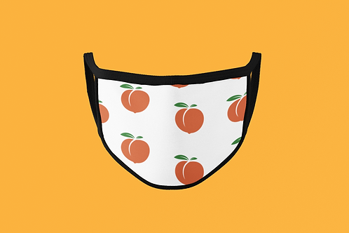 PEACH (WHITE BACKGROUND) FACE MASK