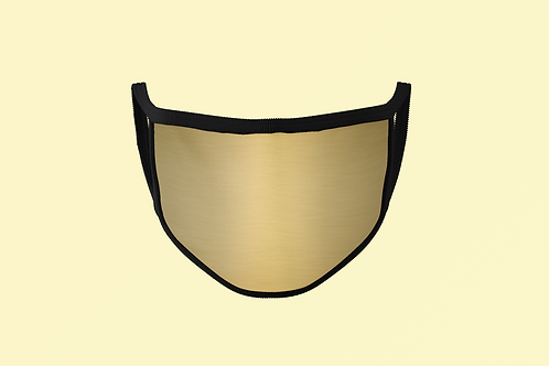 "GOLD  ""FLAT"" FACE MASK"