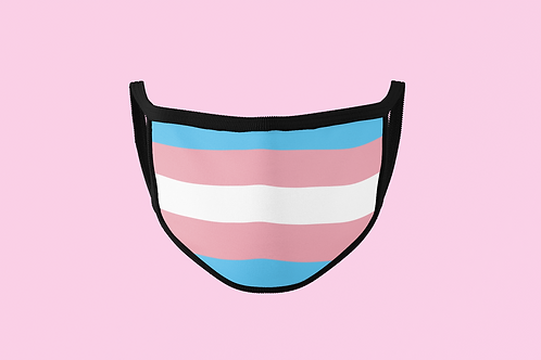 TRANSGENDER PRIDE FACE MASK