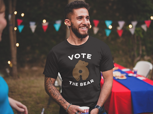 VOTE BRUCE THE BEAR (FRONT & BACK)