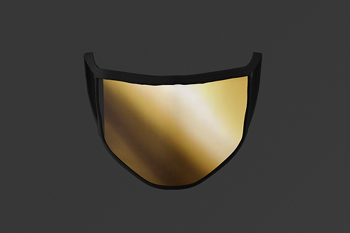 GOLD REFLECTIVE/SHINY METAL FACE MASK