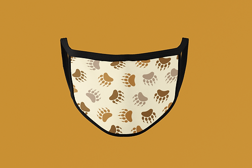 BEAR PAW PRINT PATTERN FACE MASK