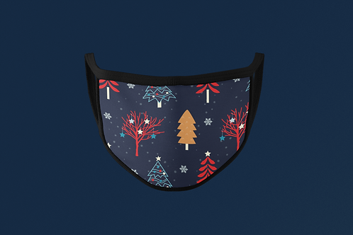 WINTER TREES PATTERN FACE MASK