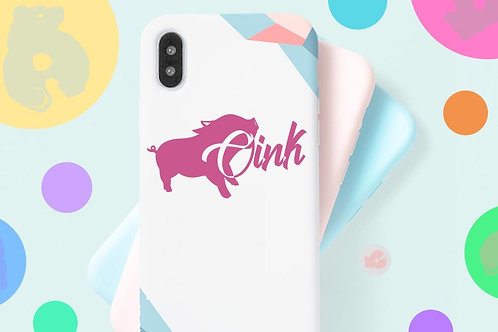 OINK (W/ PIG) -PHONE SIZE- DECAL