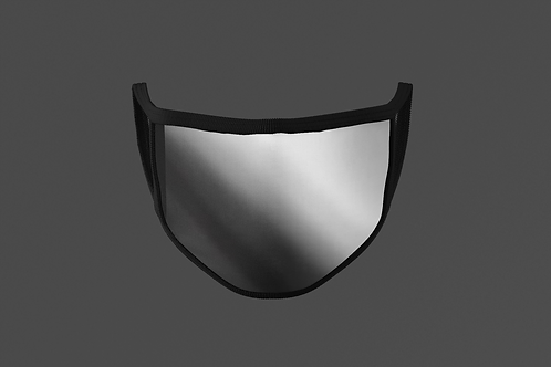 SILVER REFLECTIVE/SHINY METAL FACE MASK