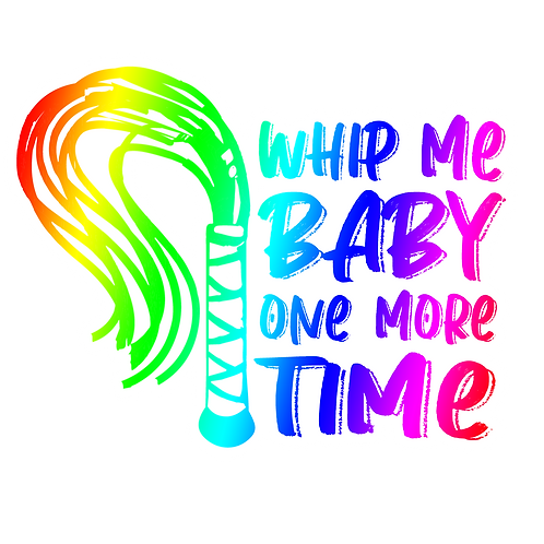 WHIP ME BABY ONE MORE TIME STICKER